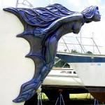 Tengeri B Hajóvezetői Tanfolyam Yachting College felkészítő hajóorr dísz