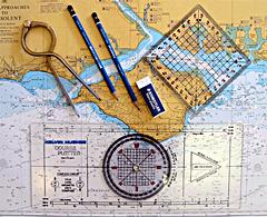 hajóvezetői tanfolyam térképészeti eszközök